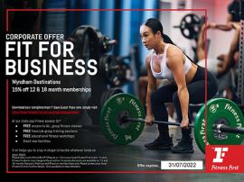 Fitness First - 15% Off 12-18 month Platinum memberships